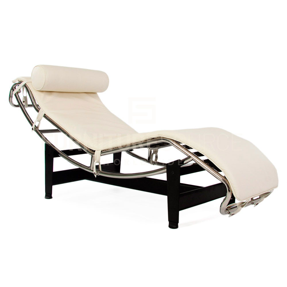 lc4 adjustable chaise lounge in style of corbusier genuine full italian leather ebay. Black Bedroom Furniture Sets. Home Design Ideas