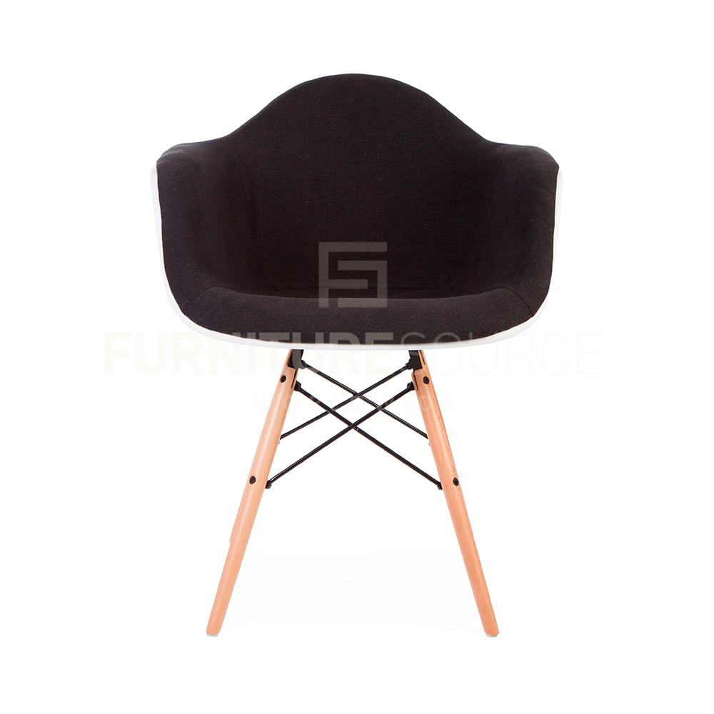 Eames Style Molded Shell DAW Eiffel Dowel Leg Upholstered  : DAW UP GRY 2 from www.ebay.com size 1000 x 1000 jpeg 78kB