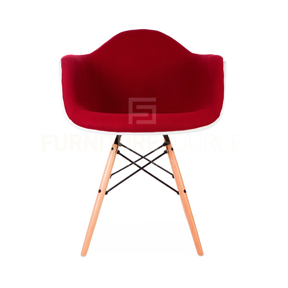 Eames Style Molded Shell DAW Eiffel Dowel Leg Upholstered  : DAW UP RED 2 from www.ebay.com size 1000 x 1000 jpeg 72kB