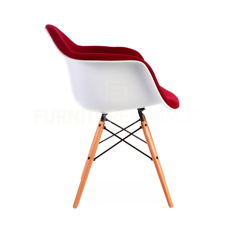 Eames Style Molded Shell DAW Eiffel Dowel Leg Upholstered  : DAW UP RED 3 from www.ebay.com size 1000 x 1000 jpeg 64kB