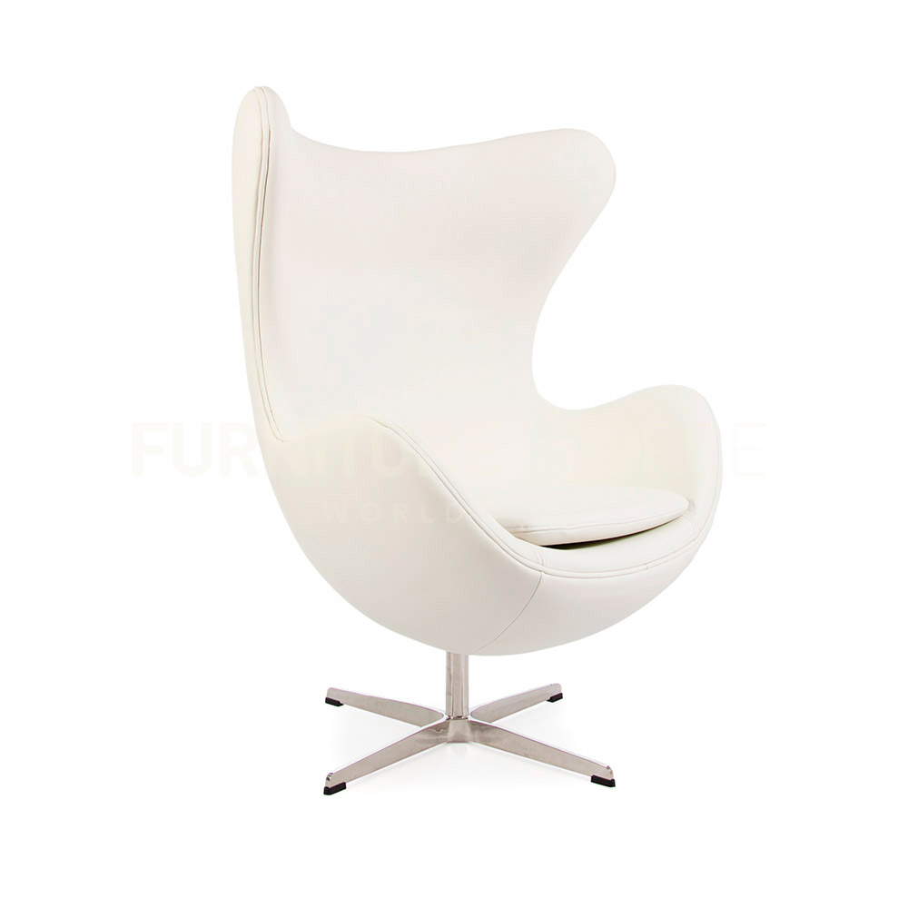 Arne jacobsen egg chair white - Arne Jacobsen Style Midcentury Modern Egg Arm Chair