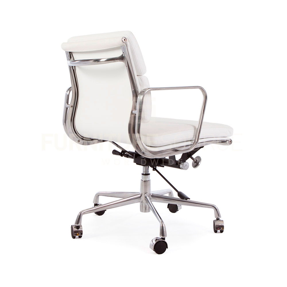 eames style soft pad low back 2 pad office chair casters
