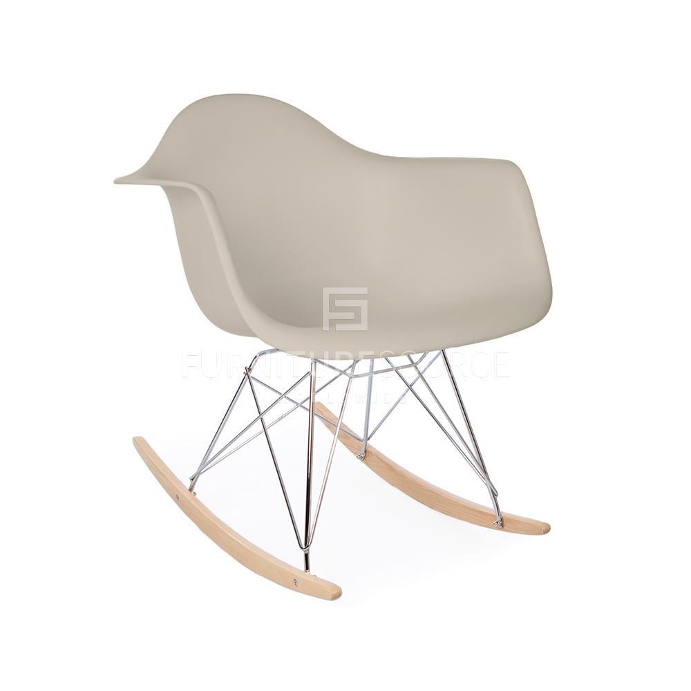 eames rar style mid century modern molded plastic rocking rocker shell arm chair ebay. Black Bedroom Furniture Sets. Home Design Ideas