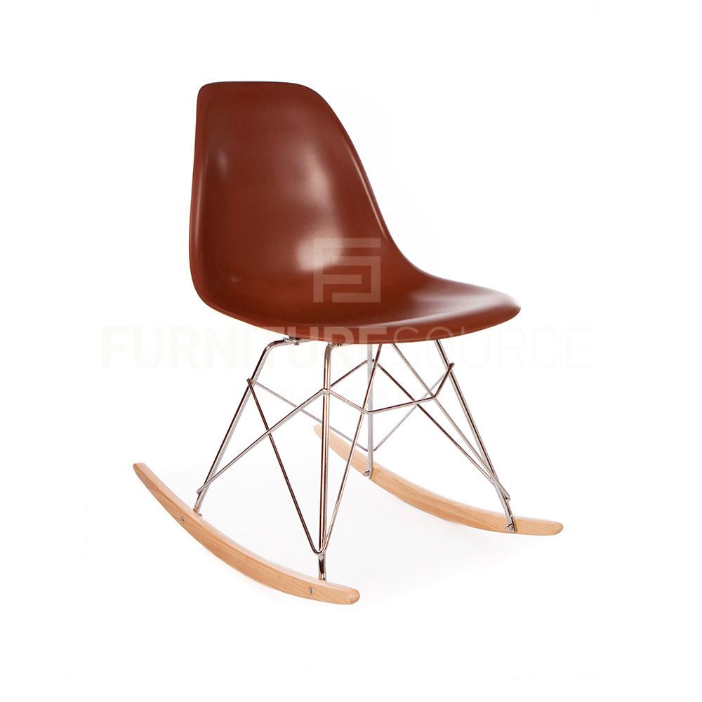 eames style midcentury modern eiffel base plastic molded rsr rocking