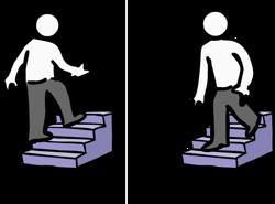 de abajo arriba o de arriba abajo