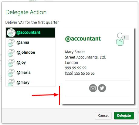 delegating actions