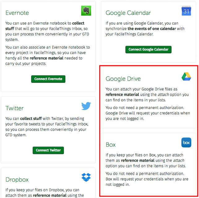 FacileThings: New Google Drive and Box Integration