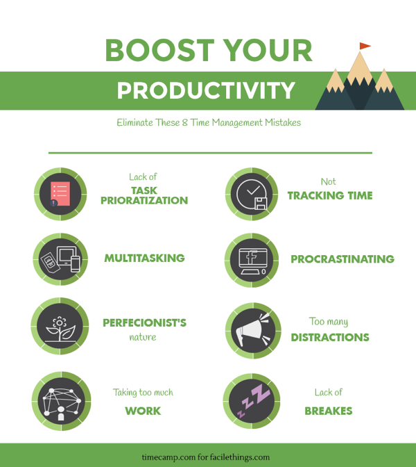 Infographic Boost Your Productivity by Eliminating These 8 Time Management Mistakes