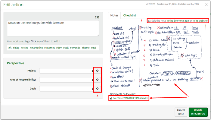 FacileThings: New Evernote Integration