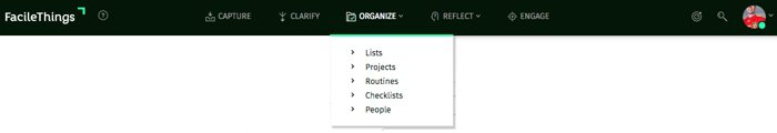 organize menu