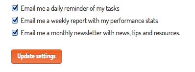 emails configuration