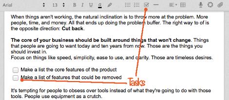 Evernote tasks