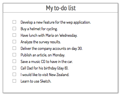 to do lists examples