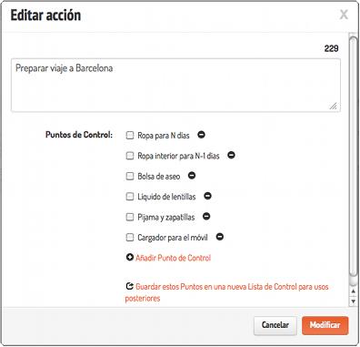 editar listas de control