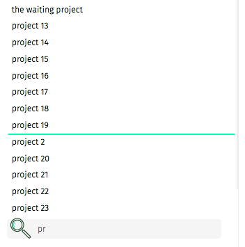 projects search