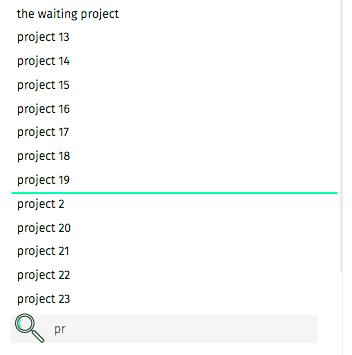 búsqueda de proyectos