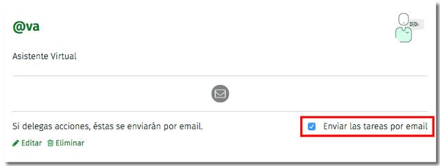 enviar tareas por email