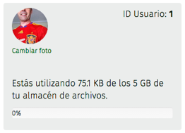 cuota de almacenamiento de archivos