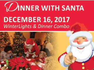 Dinner with Santa Event tickets - Elizabethan Gardens