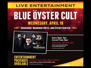 Blue Öyster Cult Event tickets - Fort Hall Casino