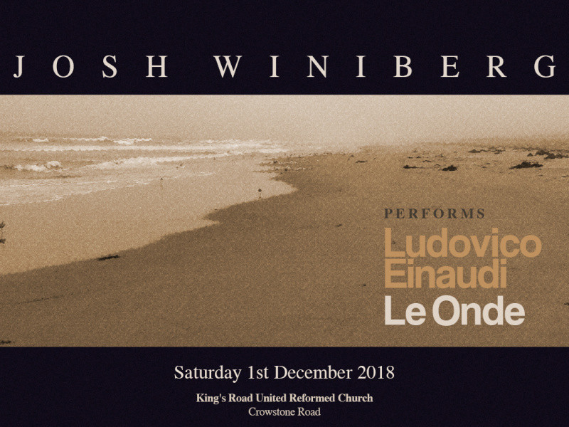 Josh Winiberg performs 'Le Onde' Event tickets - JoshWiniberg