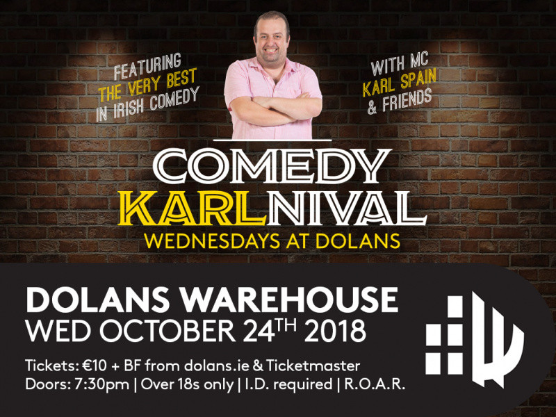 Comedy Karlnival with Phil Nicholl, Event tickets - Dolans pub