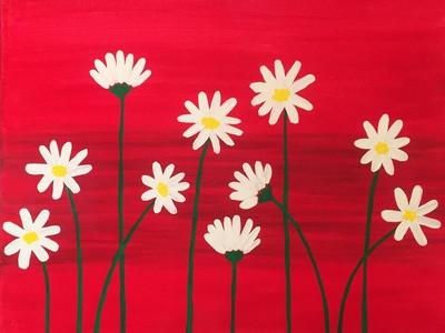 Let's Paint Daisies! Event tickets - SPARK! Art Parties