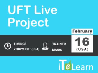 HP UFT Live Project Training Event tickets - Karthik Kosireddi