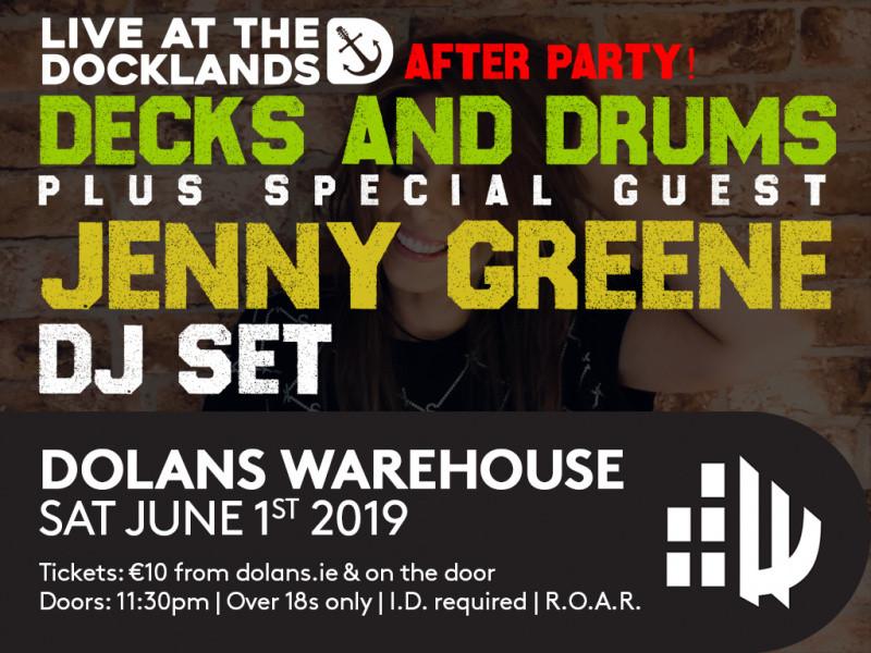 Jenny Green/Decks and Drums DJ Set tickets - Dolans pub