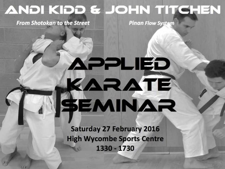 Applied Karate: Andi Kidd & John Titchen Event tickets - John Titchen Seminars