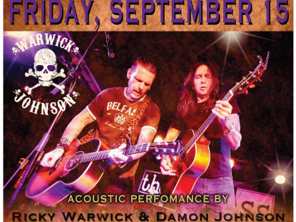 Damon Johnson & Ricky Warwick Event tickets - Rascals Live