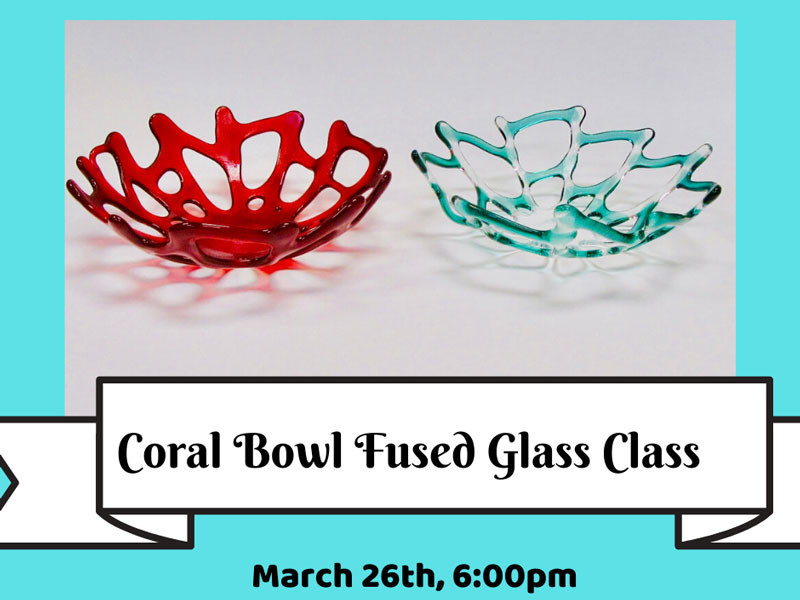 Glass Coral Bowls