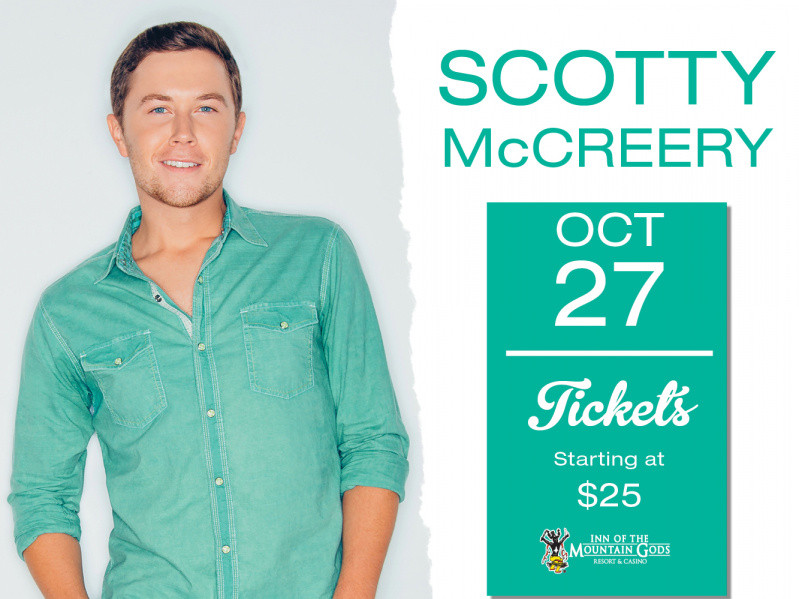 Scotty McCreery Event tickets - Inn of the Mountain Gods Resort Casino