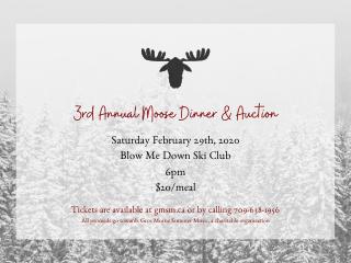 Moose Dinner Fundraiser