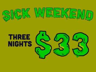 SICK WEEKEND 2016 Event tickets - Archie Fox CG
