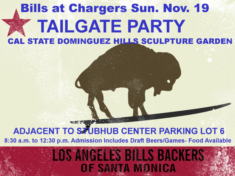 Buffalo Bills at LA Chargers Tailgate Event tickets - LABB