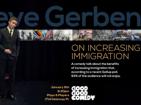 On Increasing Immigration Event tickets - Good Good Comedy Theatre