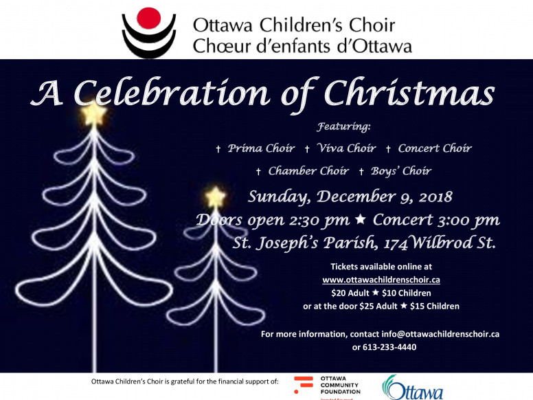 2018 Ottawa Children's Choir Event tickets - Ottawa Children's Choir