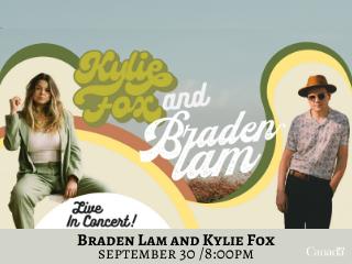 Braden Lam and Kylie Fox