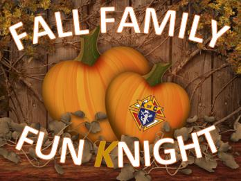 Fall Family Fun Night 2018 tickets - Holy Cross Knights of Columbus
