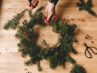 Holiday Wreath Making Workshop Event tickets - San Diego Made