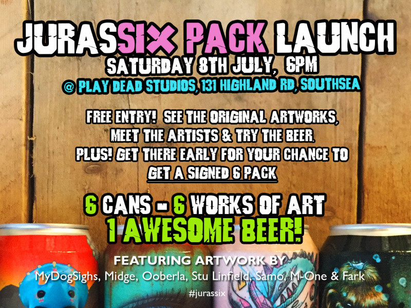 JURASSIX PACK LAUNCH DAY PRE-ORDER Event tickets - Staggeringly Good Brewery