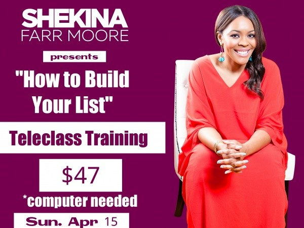 B2F Girls How To Build Your List Course Event tickets - Youth Events
