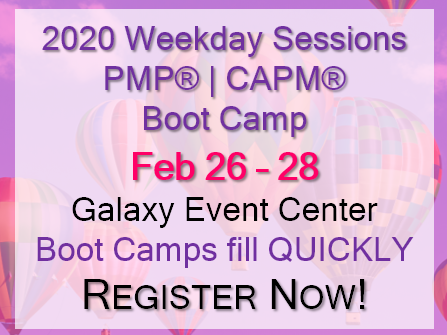 2020 Weekday PMP®|CAPM® Spring Boot Camp