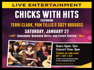 Chicks with Hits Featuring Event tickets - Fort Hall Casino