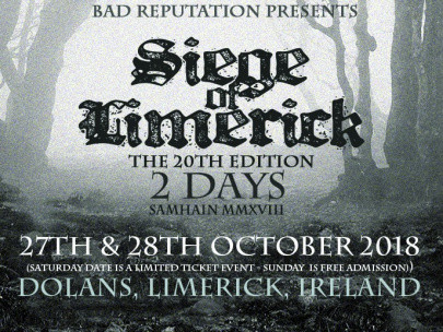 Siege of Limerick – Samhain 2018 - 20th tickets - Dolans pub