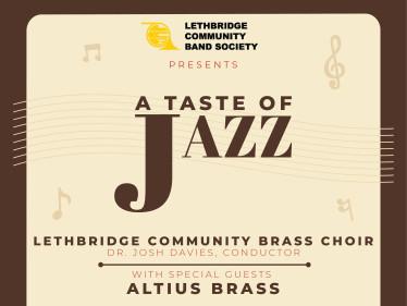 A Taste of Jazz Event tickets - Lethbridge Community Band Society