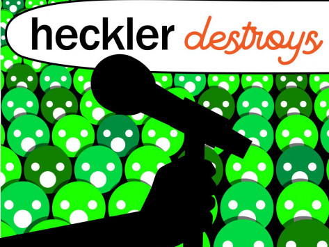 Heckler Destroys Comic tickets - Good Good Comedy Theatre