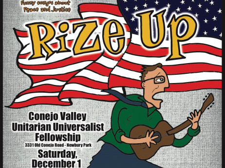 """Roy Zimmerman Concert - """"Rize Up"""" Event tickets - Conejo Valley Unitarian Universalist Fellowship - Fundraiser Events"""