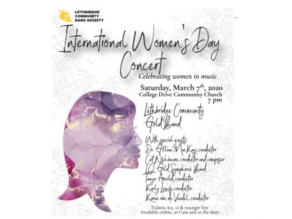 International Women's Day Concert Event tickets - Lethbridge Community Band Society